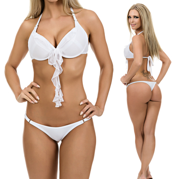 Push up Bikini mit Volant