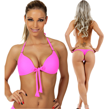 Push up Bikini  Neonpink Push up u. Tanga (2 tlg)